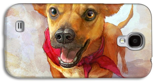 Dogs Paintings Galaxy S4 Cases - Milagro Galaxy S4 Case by Sean ODaniels