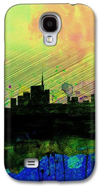 European City Digital Art Galaxy S4 Cases - Milan Watercolor Skyline 2 Galaxy S4 Case by Naxart Studio