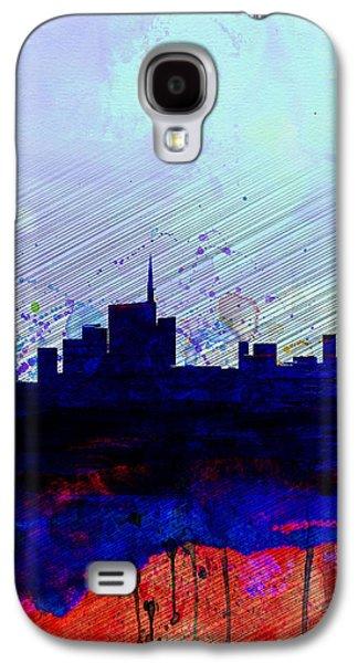 European City Digital Art Galaxy S4 Cases - Milan Watercolor Skyline Galaxy S4 Case by Naxart Studio