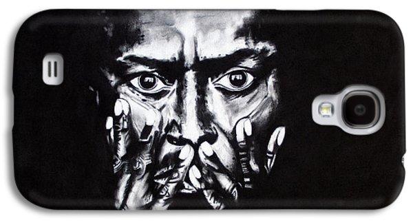 Kim Drawings Galaxy S4 Cases - Miles Davis Galaxy S4 Case by Kim Chigi