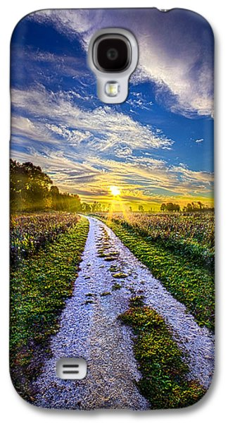 Country Dirt Roads Galaxy S4 Cases - Miles on my Heart Galaxy S4 Case by Phil Koch