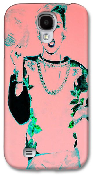 Wrecking Ball Paintings Galaxy S4 Cases - Miley 1 Galaxy S4 Case by Brian Reaves