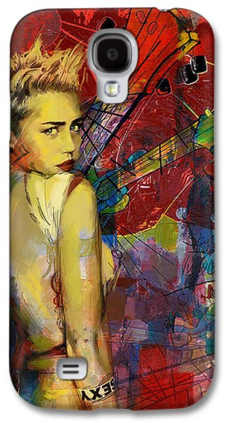 Wrecking Ball Paintings Galaxy S4 Cases - Miley Cyrus Galaxy S4 Case by Corporate Art Task Force