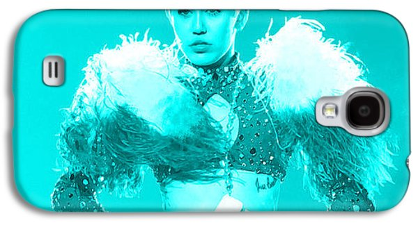 Wrecking Ball Paintings Galaxy S4 Cases - Miley Cyrus Do My Thang Galaxy S4 Case by Brian Reaves