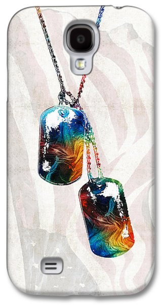 Democrat Paintings Galaxy S4 Cases - Military Art Dog Tags - Honor - By Sharon Cummings Galaxy S4 Case by Sharon Cummings