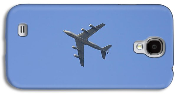 Training Photographs Galaxy S4 Cases - Military Tanker Airplane Flying In Blue Sky  Galaxy S4 Case by Keith Webber Jr