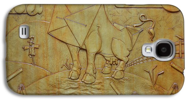 Relief Sculpture Reliefs Galaxy S4 Cases - Milk Cow Galaxy S4 Case by Jeremiah Welsh