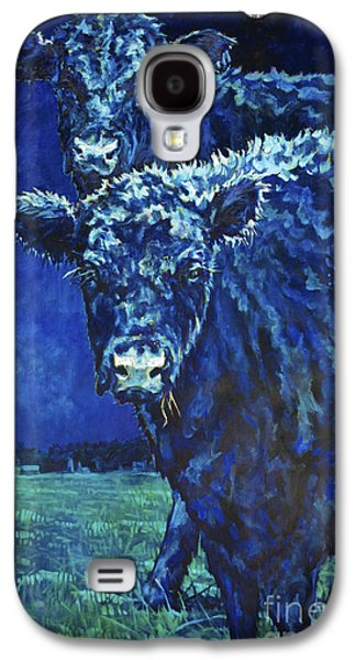 Black Angus Galaxy S4 Cases - Milk Moon Galaxy S4 Case by Patricia A Griffin
