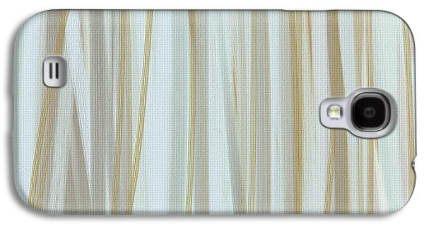 Beige Abstract Galaxy S4 Cases - Milky Brew Galaxy S4 Case by Lourry Legarde