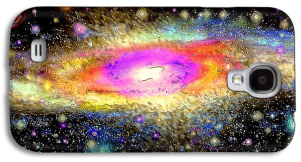 Macrocosm Paintings Galaxy S4 Cases - Milky Way Galaxy S4 Case by Daniel Janda