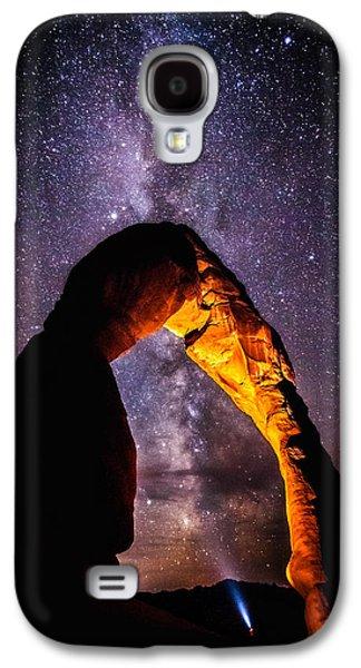 Landscape Acrylic Prints Galaxy S4 Cases - Milky Way Explorer Galaxy S4 Case by Darren  White