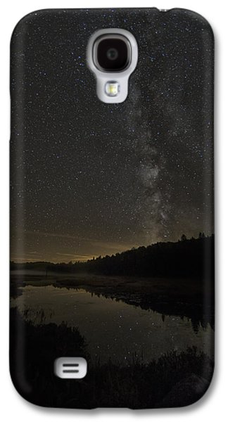 Trees Reflecting In Creek Galaxy S4 Cases - Milky Way Over Costello Creek Galaxy S4 Case by Robert Postma