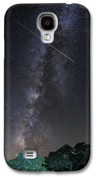 Milky Way Vertical Panorama At Enchanted Rock State Natural Area - Texas Hill Country Galaxy S4 Case by Silvio Ligutti