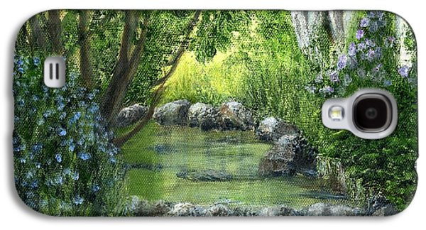 Grist Mill Paintings Galaxy S4 Cases - Mill Creek Spring Galaxy S4 Case by Catherine Howard