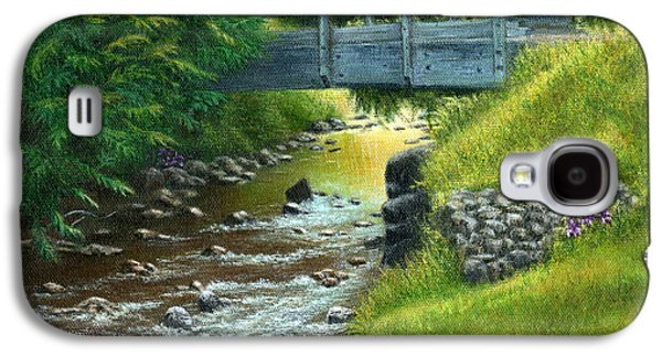 Catherine White Paintings Galaxy S4 Cases - Mill Creek Summer Galaxy S4 Case by Catherine Howard