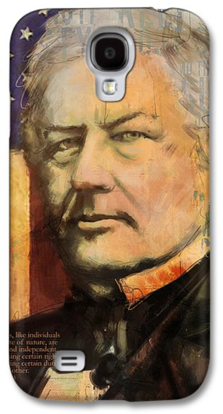 James Buchanan Galaxy S4 Cases - Millard Fillmore Galaxy S4 Case by Corporate Art Task Force