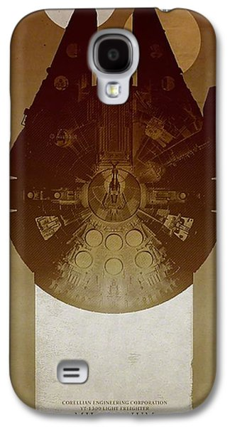Millennium Falcon Galaxy S4 Case by Baltzgar