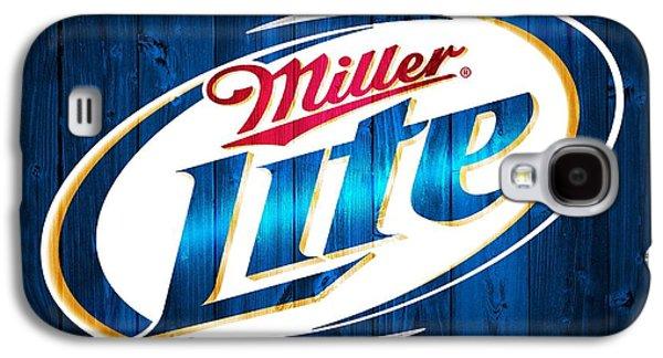 Owner Mixed Media Galaxy S4 Cases - Miller Lite Barn Door Galaxy S4 Case by Dan Sproul