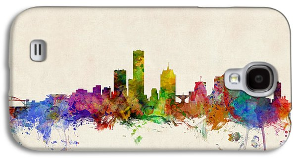 Cityscape Digital Galaxy S4 Cases - Milwaukee Wisconsin Skyline Galaxy S4 Case by Michael Tompsett