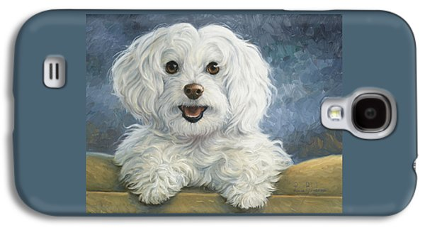 Dog Paintings Galaxy S4 Cases - Mimi Galaxy S4 Case by Lucie Bilodeau