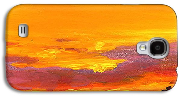 Sunset Abstract Galaxy S4 Cases - Mimosa Sunrise Galaxy S4 Case by Mike Savlen
