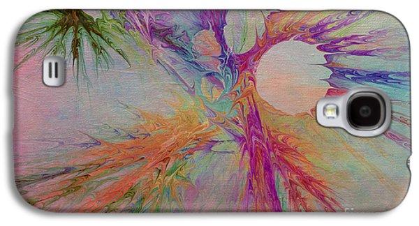 Abstract Digital Mixed Media Galaxy S4 Cases - Mind Energy Aura Galaxy S4 Case by Deborah Benoit