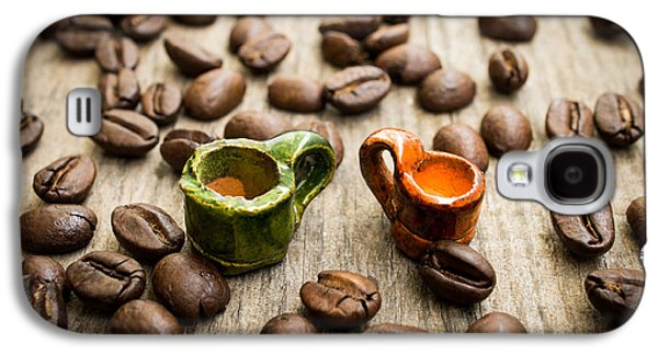 Miniature Photographs Galaxy S4 Cases - Miniature coffee cups Galaxy S4 Case by Aged Pixel