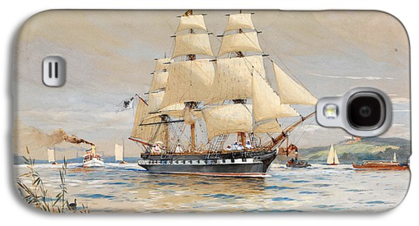 Frigates Paintings Galaxy S4 Cases - Miniature frigate Royal Louise on the Havel Galaxy S4 Case by Willy Stoewer
