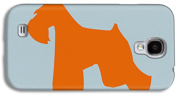 Pet Digital Art Galaxy S4 Cases - Miniature Schnauzer Orange Galaxy S4 Case by Naxart Studio