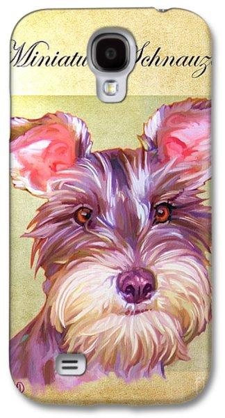 Puppy Digital Galaxy S4 Cases - Miniature Schnauzer Portrait Galaxy S4 Case by Iain McDonald