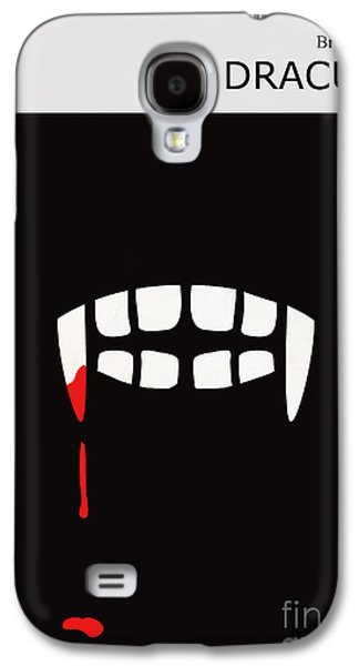 Horror Galaxy S4 Cases - Minimalist Book Cover Bram Stoker Dracula Galaxy S4 Case by Budi Kwan
