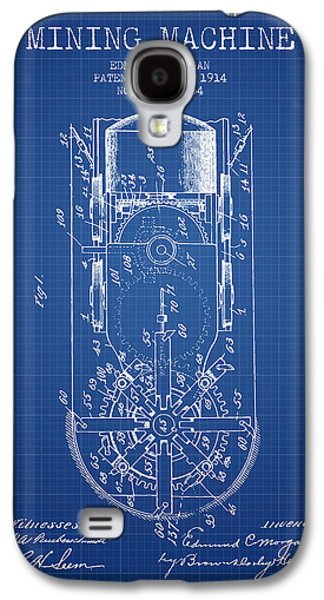Machinery Galaxy S4 Cases - Mining Machine Patent From 1914- Blueprint Galaxy S4 Case by Aged Pixel