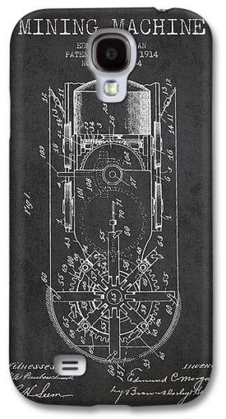Machinery Galaxy S4 Cases - Mining Machine Patent From 1914- Charcoal Galaxy S4 Case by Aged Pixel
