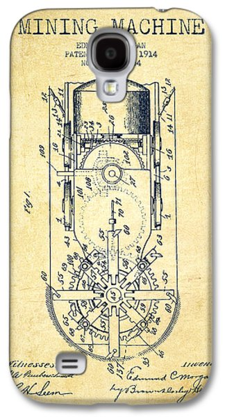 Machinery Galaxy S4 Cases - Mining Machine Patent From 1914- Vintage Galaxy S4 Case by Aged Pixel