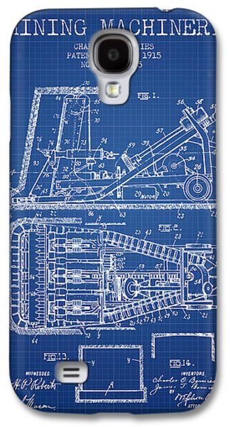 Machinery Galaxy S4 Cases - Mining Machinery Patent From 1915- Blueprint Galaxy S4 Case by Aged Pixel