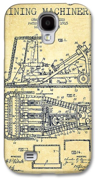 Machinery Galaxy S4 Cases - Mining Machinery Patent From 1915- Vintage Galaxy S4 Case by Aged Pixel