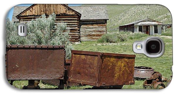 Mining Photos Galaxy S4 Cases - Mining Rail Cars Bannack Montana Galaxy S4 Case by Bruce Gourley