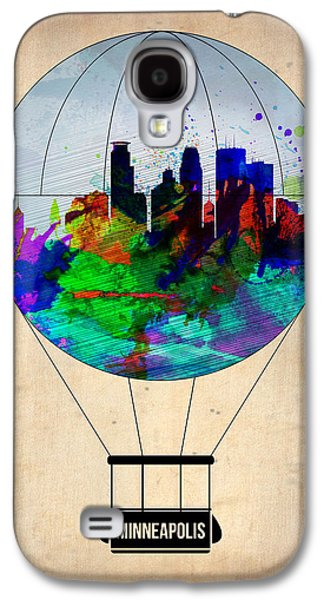 Balloons Galaxy S4 Cases - Minneapolis Air Balloon Galaxy S4 Case by Naxart Studio