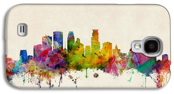 Cityscape Digital Galaxy S4 Cases - Minneapolis Minnesota Skyline Galaxy S4 Case by Michael Tompsett