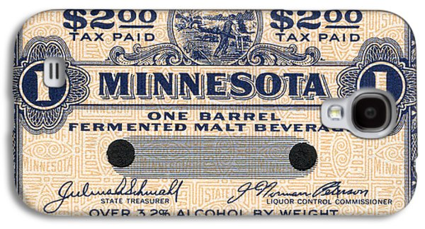 Minnesota Galaxy S4 Cases - Minnesota Beer Tax Stamp Galaxy S4 Case by Jon Neidert