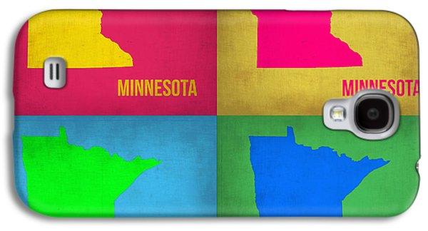 Minnesota Galaxy S4 Cases - Minnesota Pop Art Map 1  Galaxy S4 Case by Naxart Studio