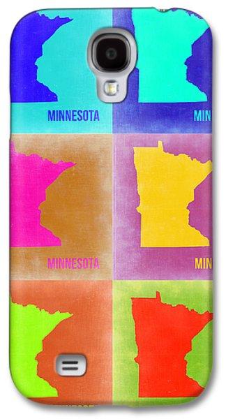 Minnesota Galaxy S4 Cases - Minnesota Pop Art Map 2 Galaxy S4 Case by Naxart Studio