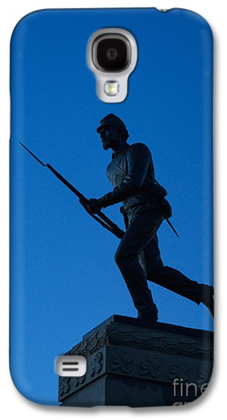Statue Of Confederate Soldier Galaxy S4 Cases - Minnesota Soldier Monument at Gettysburg Galaxy S4 Case by John Greim