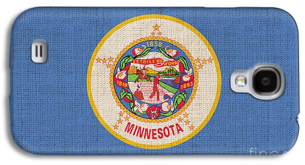 Minnesota Galaxy S4 Cases - Minnesota state flag Galaxy S4 Case by Pixel Chimp