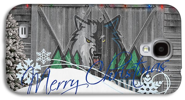 Dunk Galaxy S4 Cases - Minnesota Timberwolves Galaxy S4 Case by Joe Hamilton