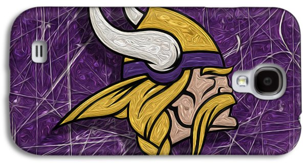 Pro Football Galaxy S4 Cases - Minnesota Vikings Galaxy S4 Case by Jack Zulli