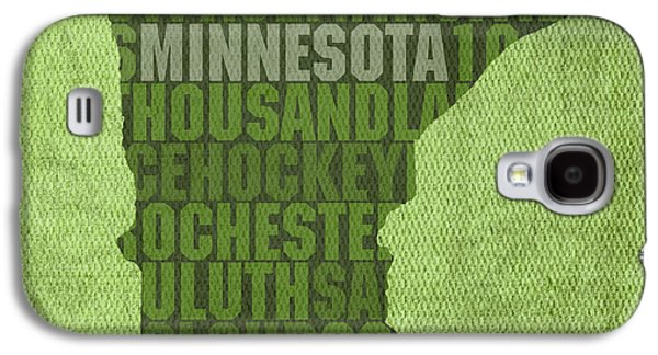 Minnesota Galaxy S4 Cases - Minnesota Word Art State Map on Canvas Galaxy S4 Case by Design Turnpike