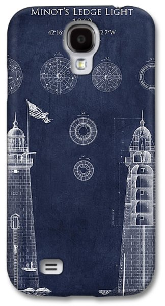 Recently Sold -  - Light Galaxy S4 Cases - Minots Ledge Light Blueprint Galaxy S4 Case by Sara Harris