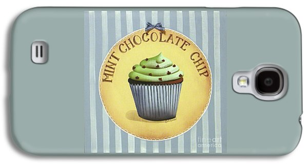 Catherine White Paintings Galaxy S4 Cases - Mint Chocolate Chip Cupcake Galaxy S4 Case by Catherine Holman