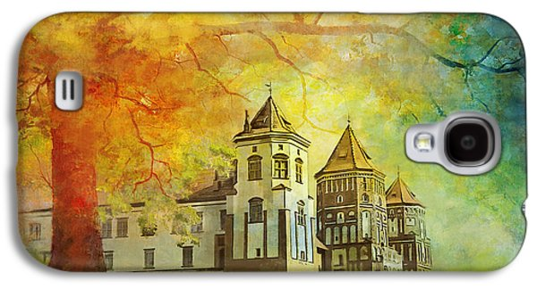 Museum Paintings Galaxy S4 Cases - Mir Castle Complex Galaxy S4 Case by Catf
